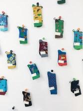Warschau im Herbst: Socken mit dem Kulturpalast sind voll im Trend