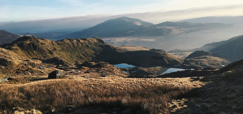 Snowdonia National Park in Wales: Wandern auf den Snowdon im Winter
