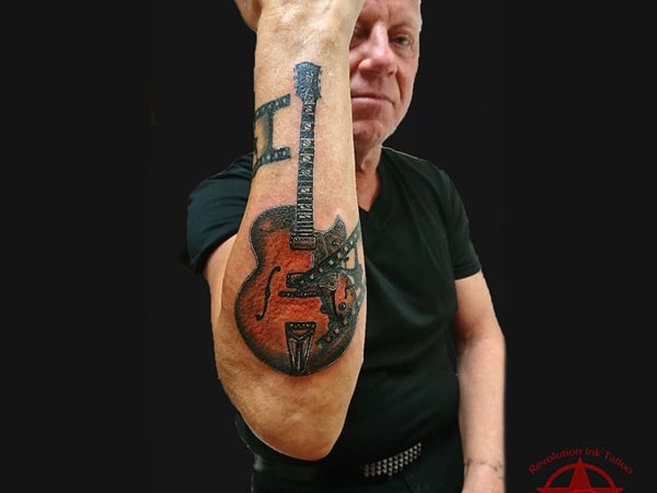 Guitar Rock & Roll tattoo by Dana