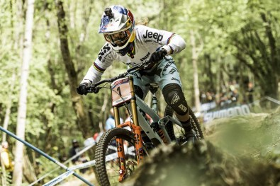 Rachel Atherton performs at UCI DH World Cup in Lourdes, France on April 30th, 2017 // Bartek Wolinski/Red Bull Content Pool // P-20170430-01290 // Usage for editorial use only // Please go to www.redbullcontentpool.com for further information. //