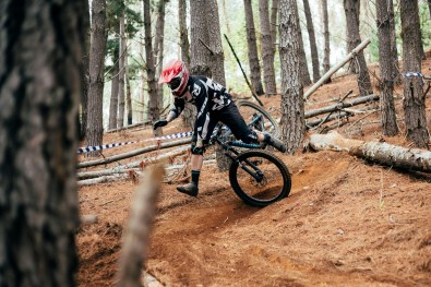 The tight, steep forest sections are waiting to catch out unprepared riders.