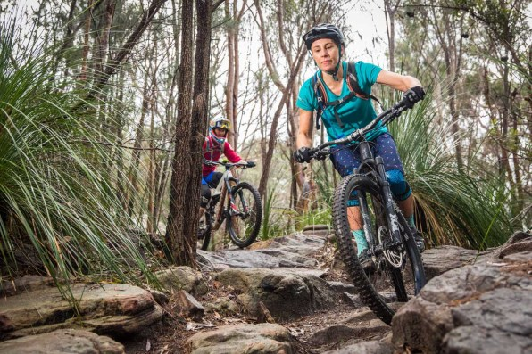 The women's mountain bike scene is strong with this community. Pic:©Richard McGibbon
