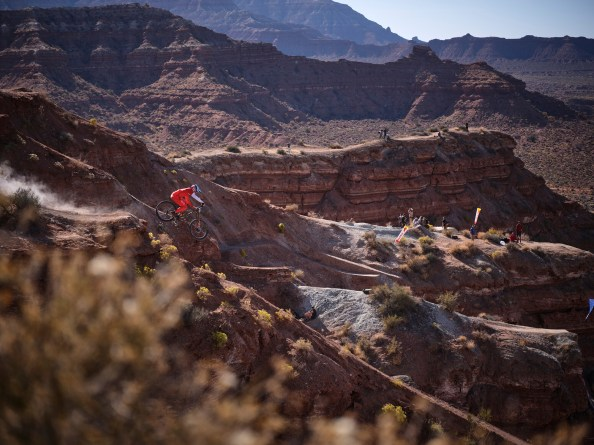 Brett Rheeder rides during the Red Bull Rampage in Virgin, Utah, USA on 24 October, 2019 // Michael Clark/Red Bull Content Pool // AP-21YWSQK4W1W11 // Usage for editorial use only //