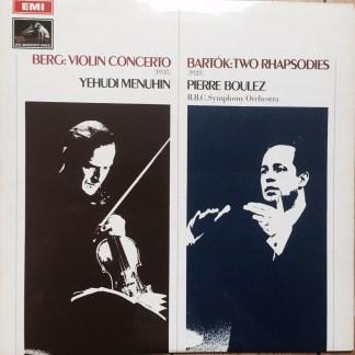 Yehudi Menuhin Berg Violin Concerto LP cover