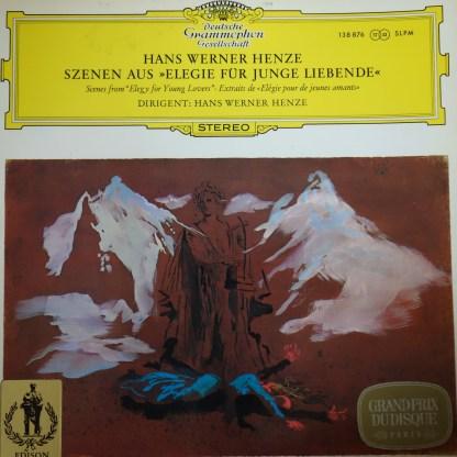 SLPM 138 876 Hans Werner Henze Scenes from Elegie For Young Lovers