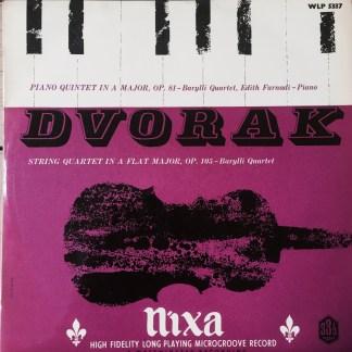 WLP 5337 Dvorak Piano Quintet in A / String Quartet in Ab / Barylli Quartet