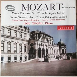 WST 14136 Fou Ts'ong Plays Mozart Piano Concertos 25 & 27 / Desarzens / VSOO