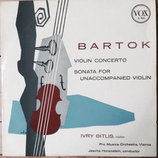 PL 9020 Bartok Violin Concerto / Sonata For Unaccompanied Violin / Ivry Gitlis