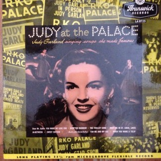 "Brunswick LA 8725 Judy Garland Judy At The Palace 10"" LP"