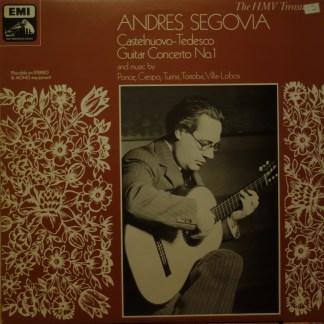 HLM 7134 Castelnuovo-Tedesco Guitar Concerto No. 1 & Music by Ponce, Turina, etc. Andres Segovia