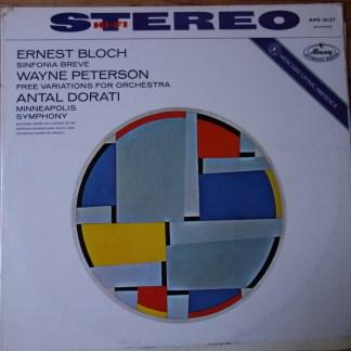 AMS 16127 Bloch Sinfonia Breve / Peterson Free Variations / Dorati / Minneapolis Symphony