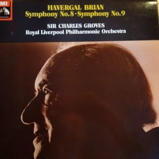 ASD 3486 Havergal Brian Symphony No. 8 & 9 / Groves / RLPO