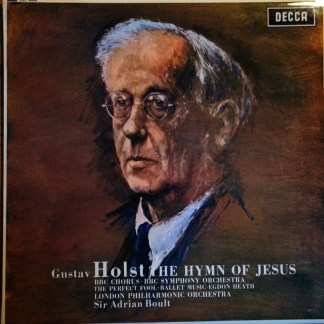 SXL 6006 Holst The Hymn of Jesus / Boult / LPO etc. HP List
