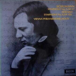SXL 6356 Schumann Symphony No. 3 & 4 / Solti / VPO W/B