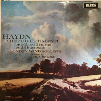 SXL 6338 Haydn 7 Divertimenti / London Wind Soloists