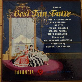 33CX 1262-64 Mozart Cosi Fan Tutti / Schwarzkopf / Karajan