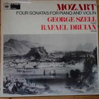 CBS 61055 Mozart Four Sonatas for Piano & Violin / Druian / Szell