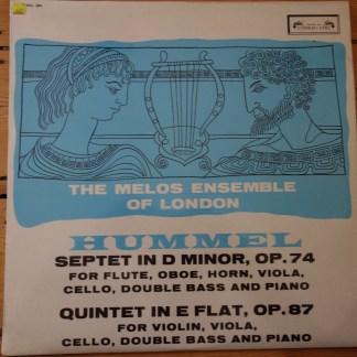 SOL 290 Hummel Septet / Quintet / Melos Ensemble grooved 1st