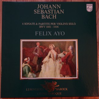 6770 950 Bach Sonatas & Partitas / Felix Ayo 2 LP box set
