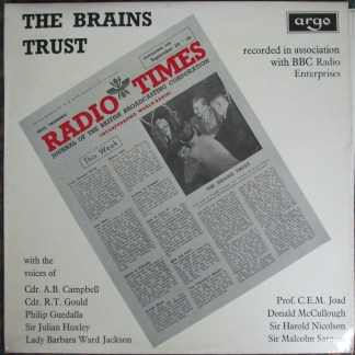 DA 38 The Brains Trust / Selections from the famous BBC programme