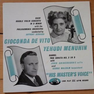 BLP 1046 Bach Double Concerto / Handel Tro Sonata De Vito
