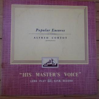ALP 1197 Alfred Cortot Plays Popular Encores