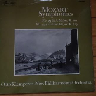 SAX 5256 Mozart Symphonies 29 & 33 / Klemperer NPO