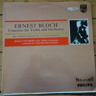 838 203 AY Bloch Violin Concerto / Totenberg / Golschmann