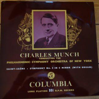 33CX 1116 Saint-Saens Symphony No. 3 / Munch B/G