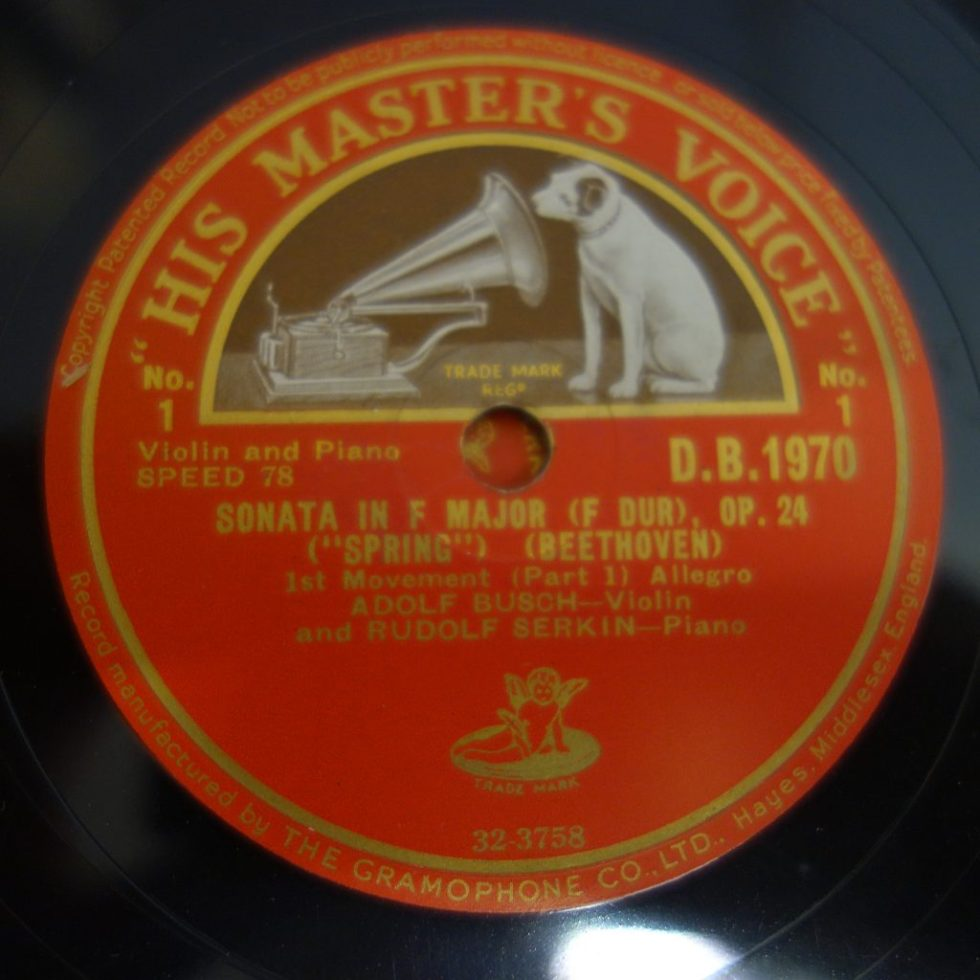 DB 1970-72 Beethoven Spring Sonata / Adolf Busch / Serkin