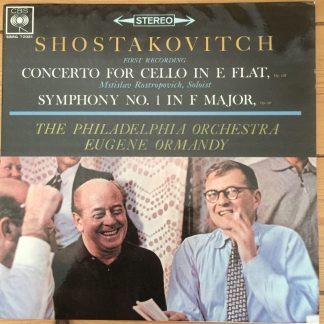 SBRG 72081 Shostakovich Cello Concerto, etc / Rostropovich / Ormandy