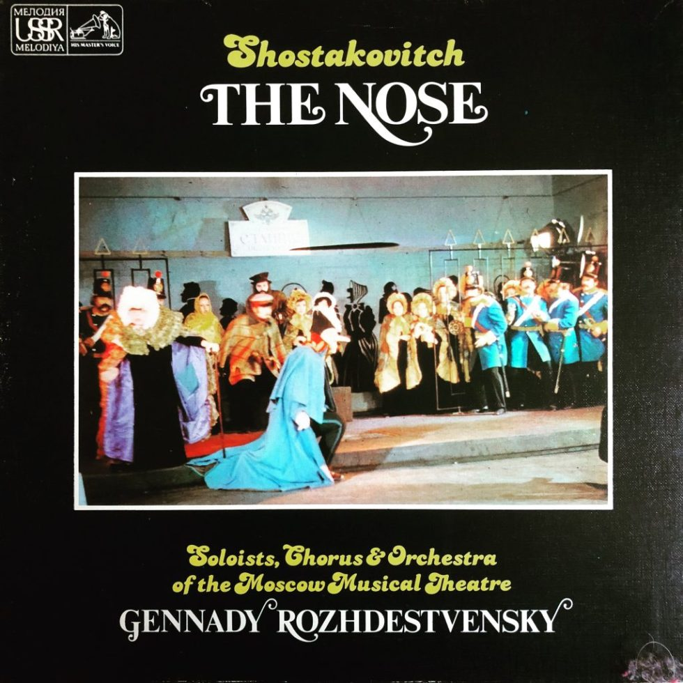 SLS 5088 Shostakovich The Nose / Rozhdestvensky / Moscow Musical Theatre 2 LP box set