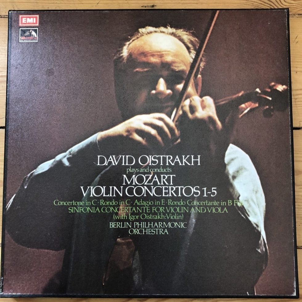 SLS 828 Mozart Violin Concertos Nos. 1 - 5 etc. / David Oistrakh