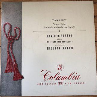 33CX 1390 Taneiev Concert Suite / David Oistrakh / Malko