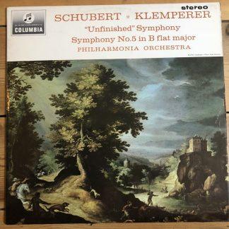 SAX 2514 Schubert Unfinished Symphony & Symphony No.5 Philharmonia Klemperer E/R