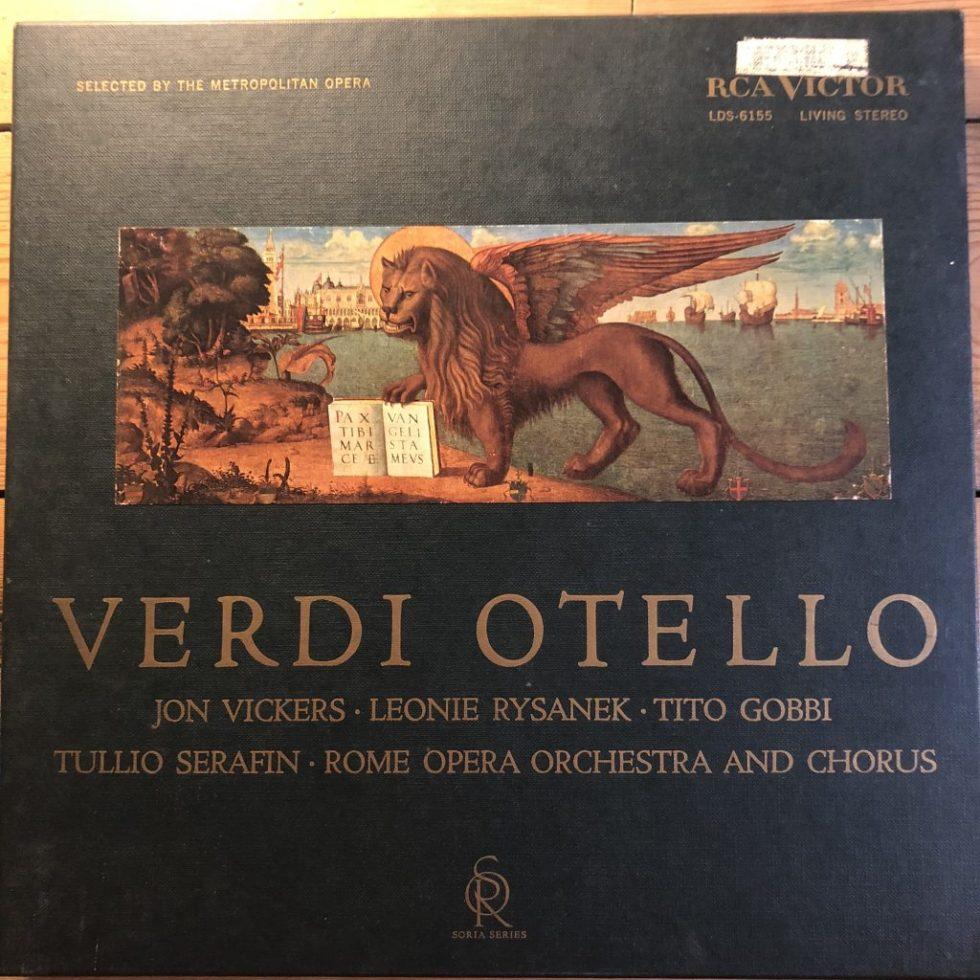 LDS-6155 Verdi Otello / Serafin / Rome Opera R/S 3 LP box set