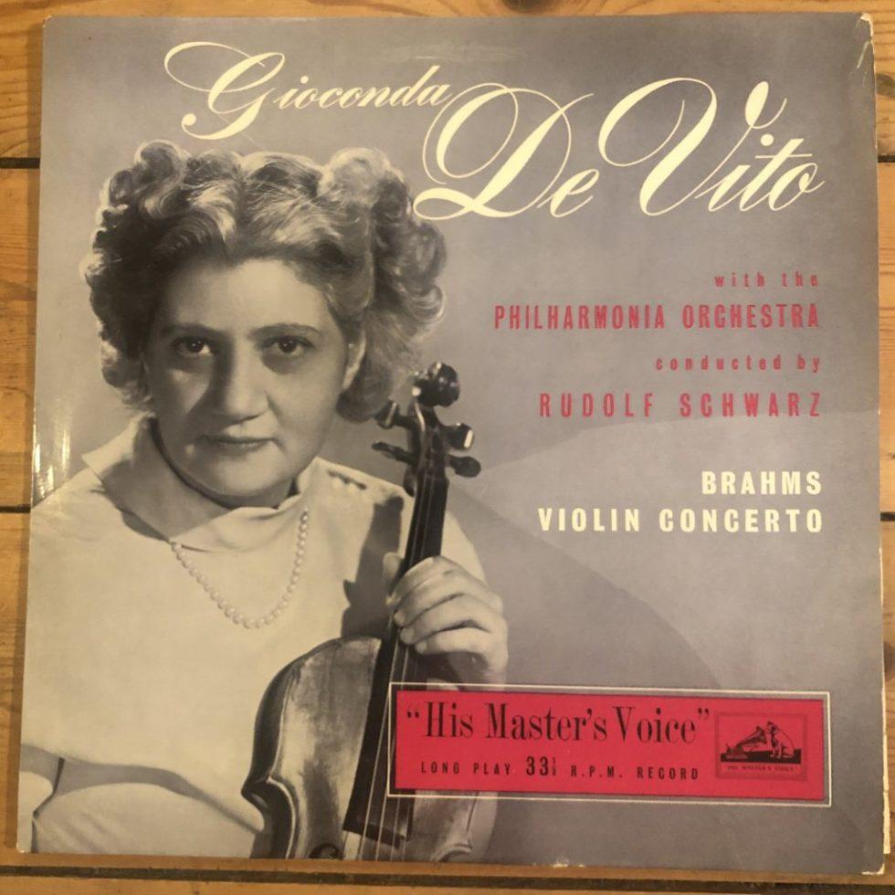 ALP 1104 Brahms Violin Concerto / Gioconda de Vito