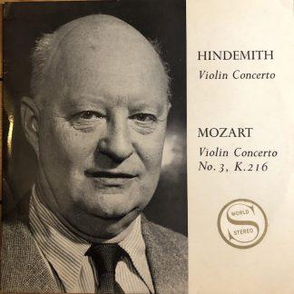 SCM 33 Hindemith / Mozart Violin Concertos / Fuchs / Goossens / LSO