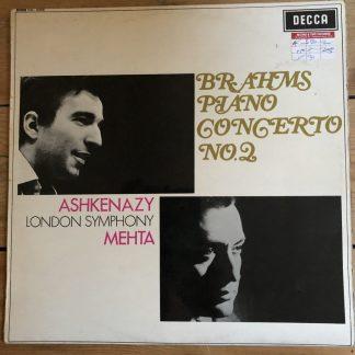 SXL 6309 Brahms Piano Concerto No.2 Ashkenazy / LSO / Mehta