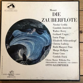 SAN 137-9 Mozart Magic Flute / Klemperer W/A 3 LP box