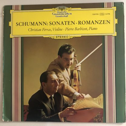 138 998 Schumann Violin Sonatas, 3 Romances / Christian Ferras / Barbizet TULIP