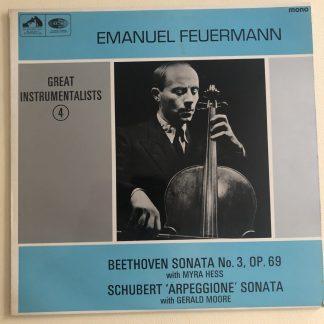 HQM 1079 Emanuel Feuermann Beethoven Cello Sonata No. 3 / Schubert Arpeggione