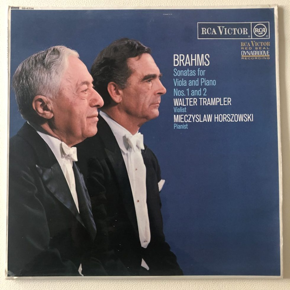 SB 6734 Brahms Viola Sonatas / Walter Trampler / Mieczyslaw Horszowski O/S