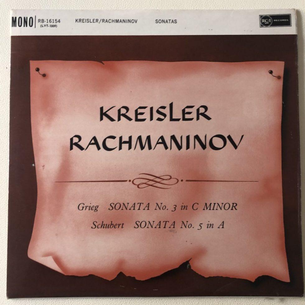 RB 16154 Grieg / Schubert Violin Sonatas / Kreisler / Rachmaninov
