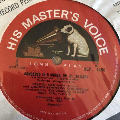 ALP 1456 Elgar Violin Concerto / Yehudi Menuhin / Elgar