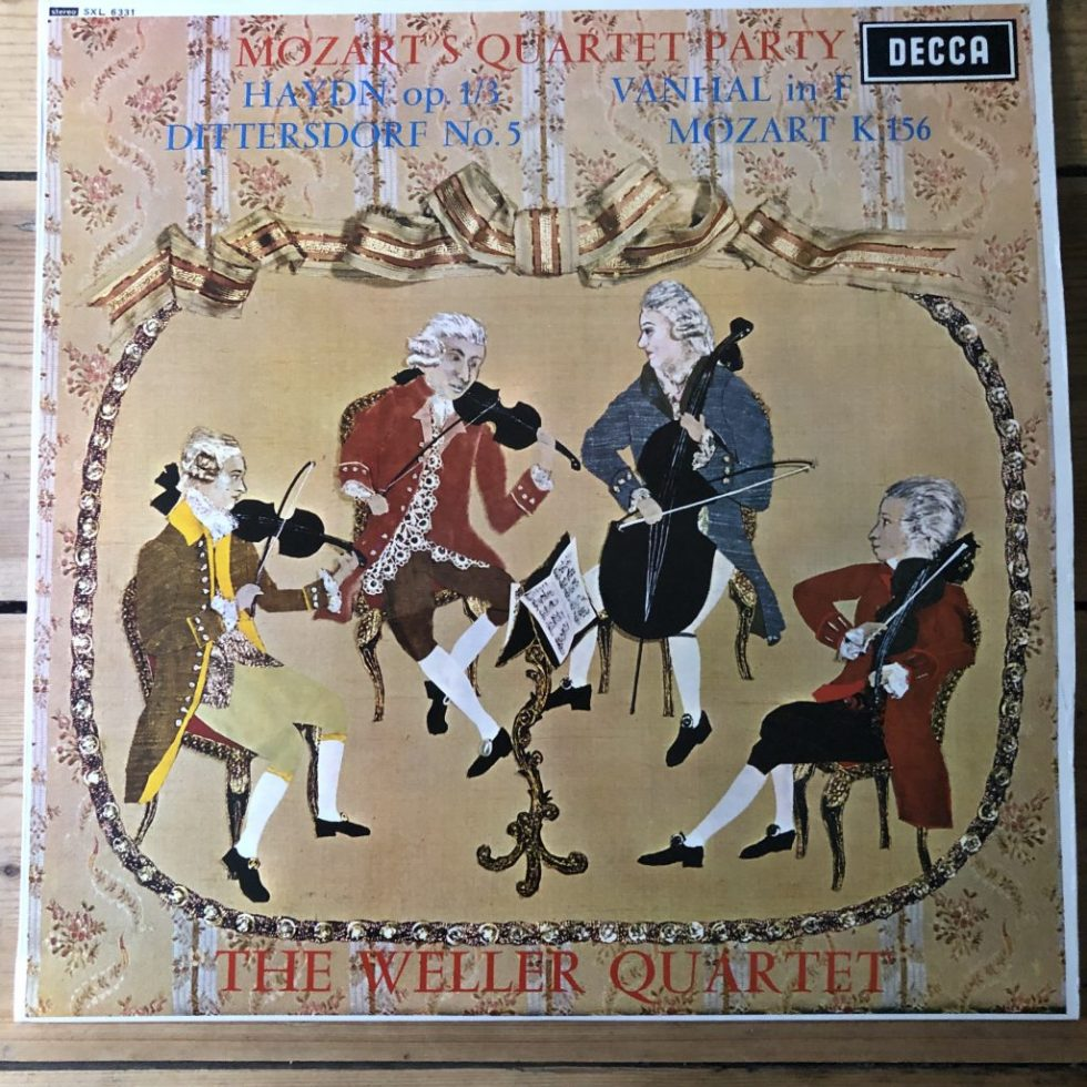 SXL 6331 Mozart's Quartet Party / Weller Quartet W/B