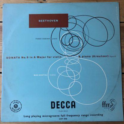 LXT 2732 Beethoven Violin Sonata No. 9