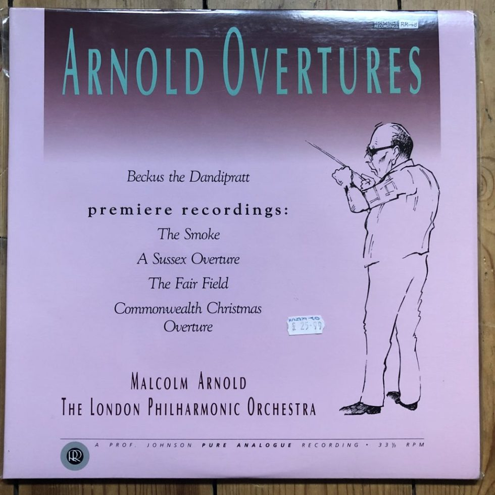 Reference Recordings RR-48 Arnold Overtures / Arnold / LPO 2 LP TAS