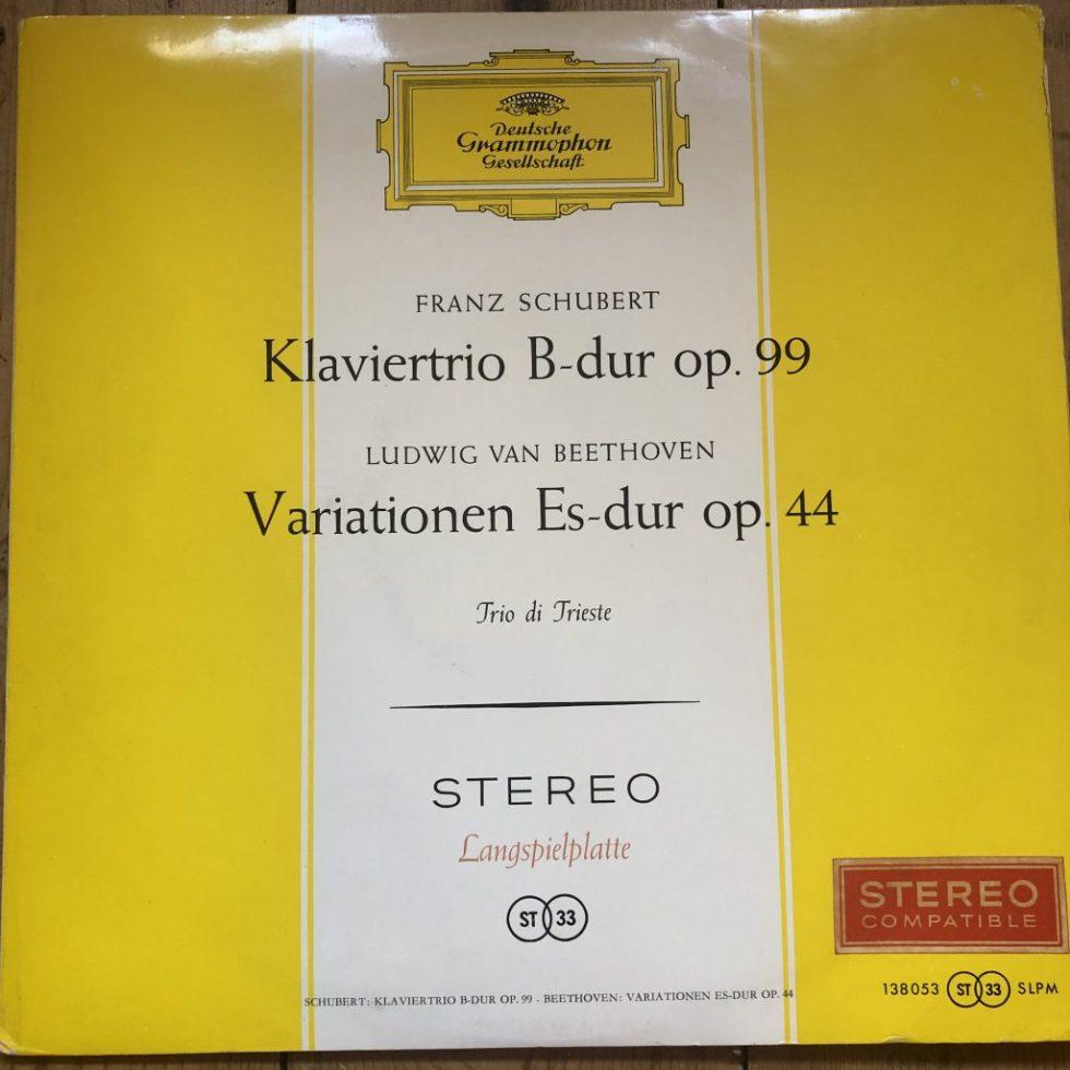 SLPM 138 053 Schubert Bb Trio Beethoven Variations Trio di Trieste
