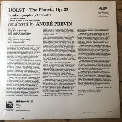 ASD 3002 Holst The Planets / Previn